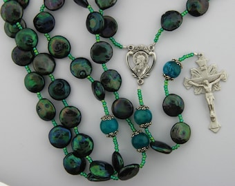 Coin Pearl Rosary