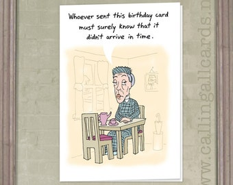 Scolding Lady - Belated Birthday Card