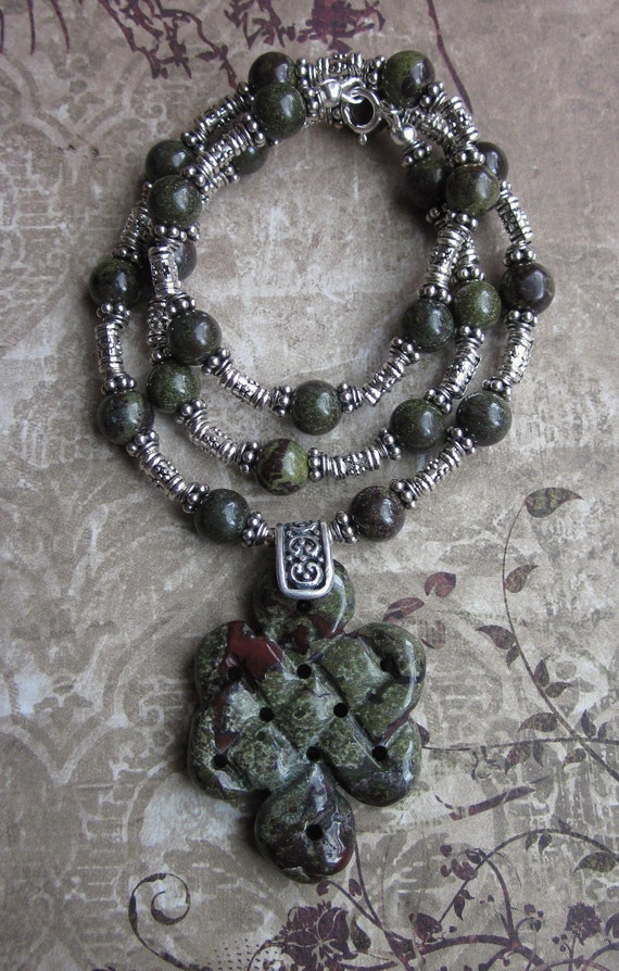 Draco Forest - Dragon's Blood Jasper Necklace