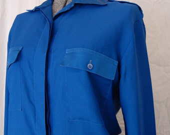Electric Blue 70s Shirt