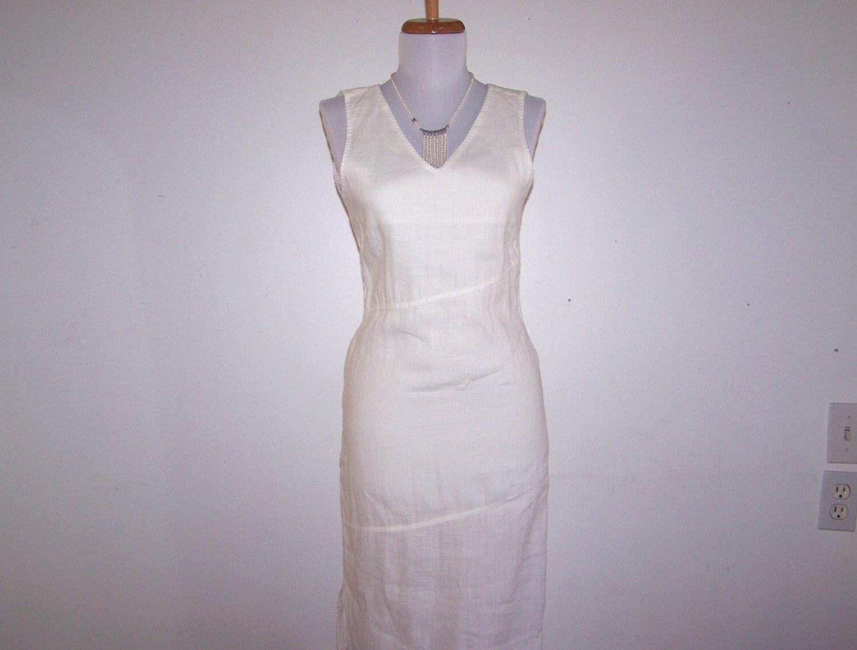 White Linen Wedding Dresses 98