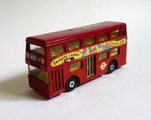 Vintage Matchbox Diecast Red London Bus Super Kings K-15 'The Londoner'