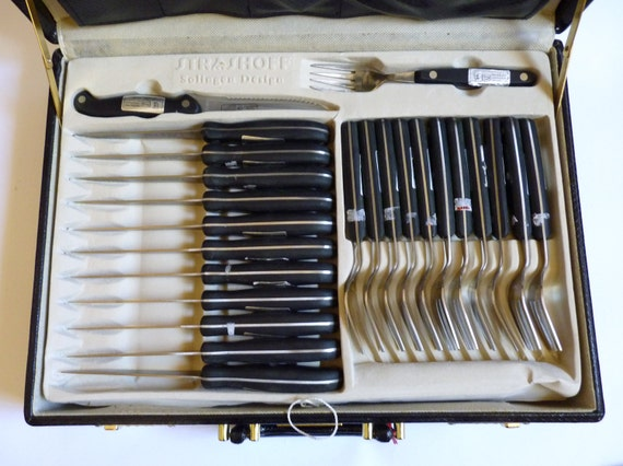 german made kitchen knife and cutlery flatware set in leather top 7 kitchen knives ebay