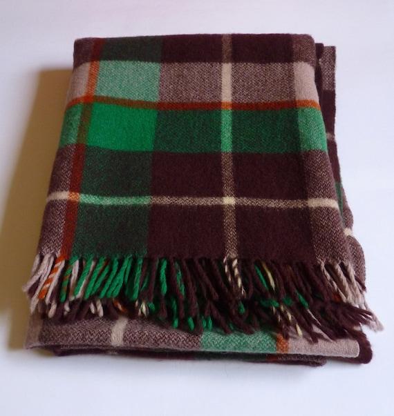 Plaid New Zealand Wool Blanket