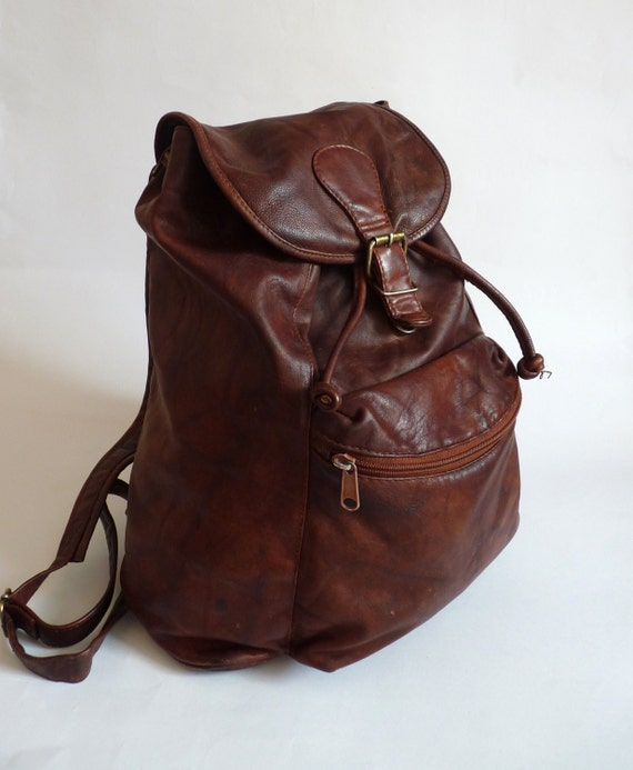 Worn Leather Backpack | Frog Backpack