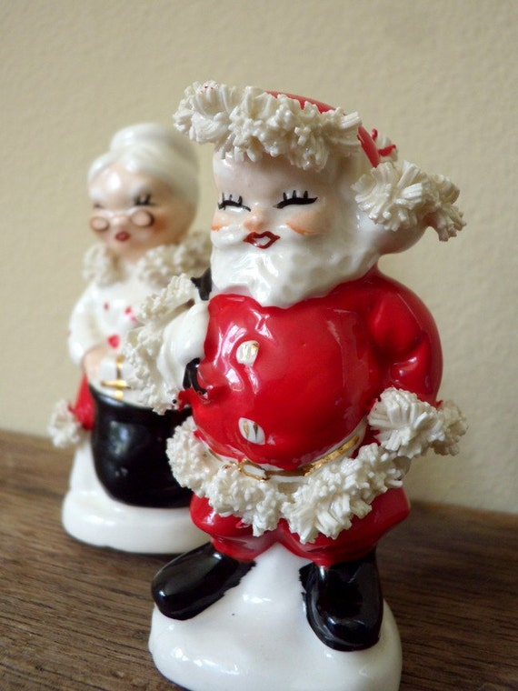 1950s Napco Mr. and Mrs. Claus Salt and Pepper Shakers