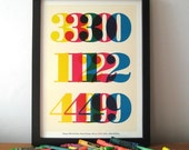 Personalized Birthday Date with Message - Custom Wall Art Print (Yellow, Blue, Pink, Green, Red)