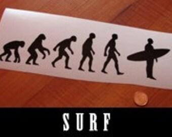 Decal Surf Board Evolution Sticker
