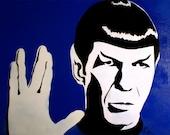 A Final Frontier- Spock of Star Trek Portrait Pop Art ///////ON SALE////////