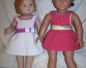 Sale!nPattern 16 Scalloped Edge Party Dress Fits American Girl or Similar 18 inch Doll