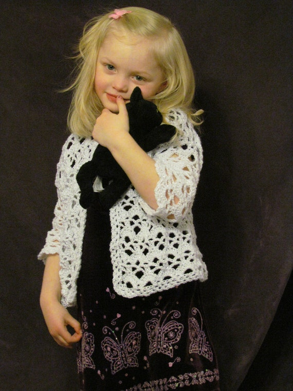 Pattern 52 Childs Lacy Sweater