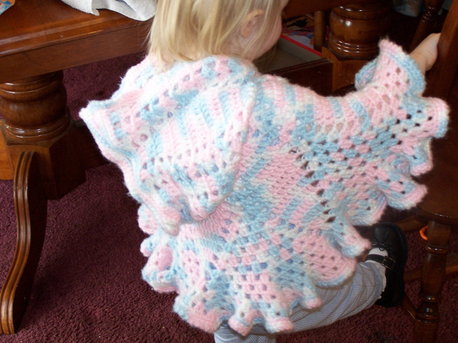 Pattern 3 Baby Petals Hooded Baby Poncho