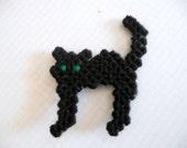 Plastic Canvas Halloween Black Cat Magnet