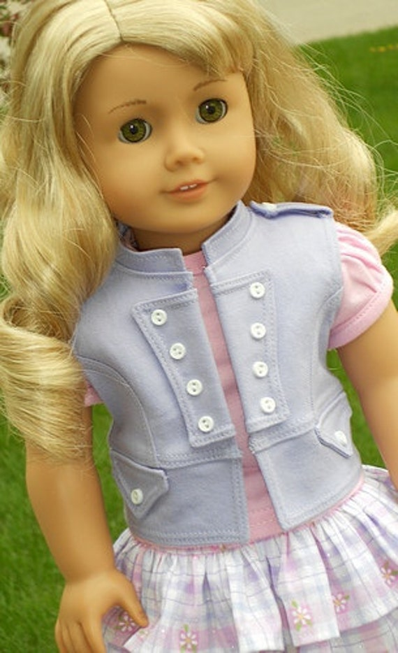 Pink & Lavendar Spring Outfit For American Girl Or Similar 18-Inch Dolls