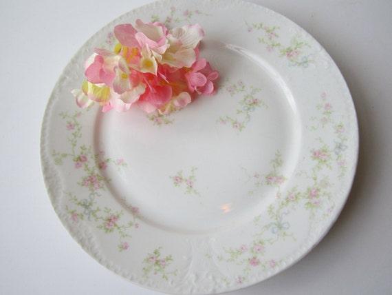Vintage Theodore Haviland Limoges Marie Pink Floral Dinner Plate