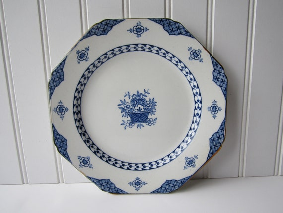 Vintage Woods Ware Enoch Blue Bombay Luncheon Plate