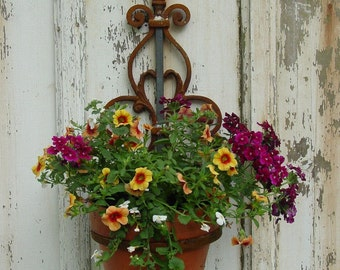 Wall Mounted Plant Holder - Steel Pot Ring