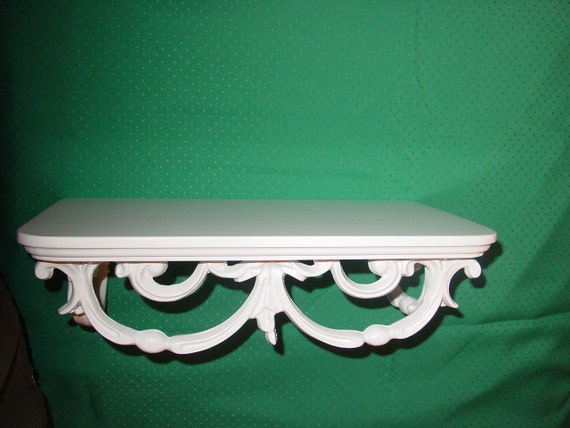 Wood Shelf with Ornate Support Casting