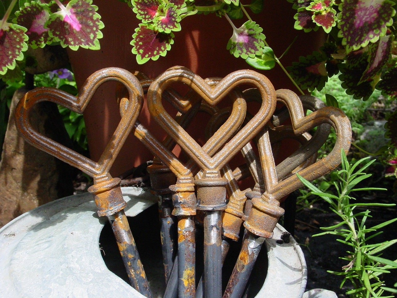Eight Heart Hose Guides Cast Iron welded to Steel for the