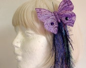 Hair Fall Clip: Sparkling Purple Butterfly