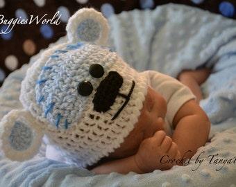 Boutique Crochet bear hat boy newborn-24m.Photographie Props