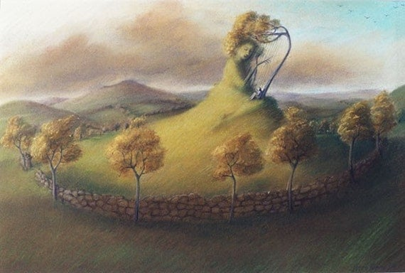 Moorland Melodies- Limited edition print of a pastel painting