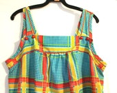 SALE Vintage 1970s Little Summer Button Dress