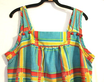 Kitschy Vintage 1970s Little Summer Button Dress