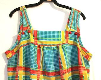 10 Dollar Dress SALE Vintage 1970s Little Summer Button Dress