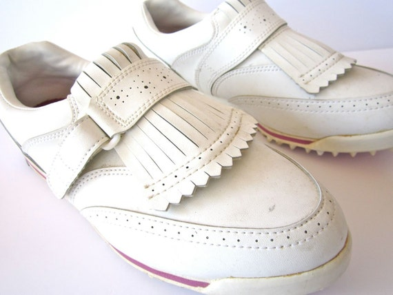 SALE Vintage Chunky 1980s White Etonic Golf Sneakers