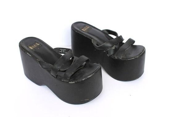 Vintage Distressed 90s Platform Shoes Base For Bottoms of Your Design