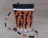 Tiger Print Miniature Wearable Basket Necklace