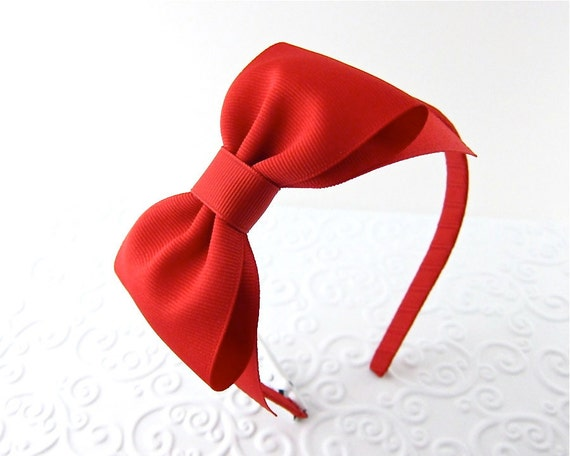 Red Bow Headband Snow White Costume Prop Pretend Play