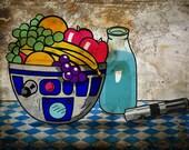 Still Life (with blue milk)