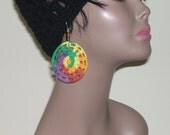 Rainbow Effect Crochet Thread Earrings from Natural Sista Collection