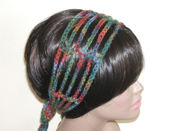 Crochet Hair Wrap : Crochet Gipsy Rasta Hair Wrap Headband in by MonetCreations