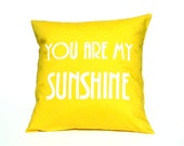 "LOVE Pillow Cover - ""You are my Sunshine"""