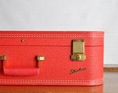 Vintage Cherry Red Starline Suitcase