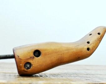 Vintage Wood Shoe Tree Stretcher Wooden Shoe Form DIsplay