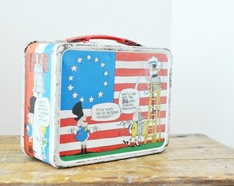 Rusty Yankee Doodles Thermos Lunch Box