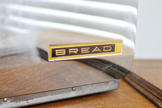 Vintage Chrome Beauty Box Bread Box
