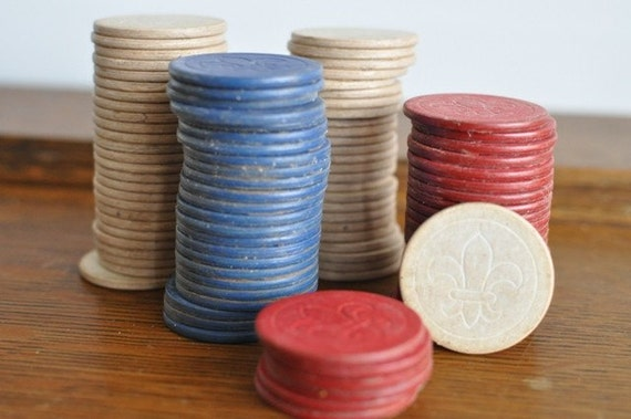 Antique poker chips for sale