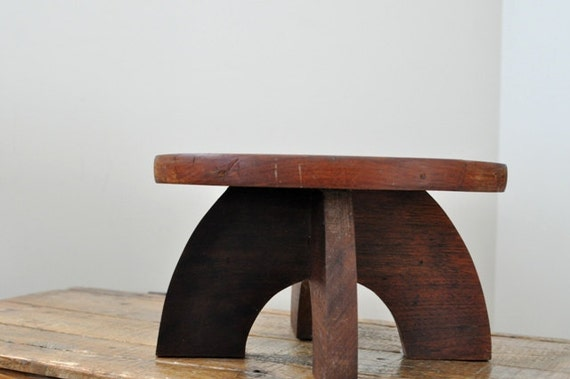 Vintage Wood Foot Stool