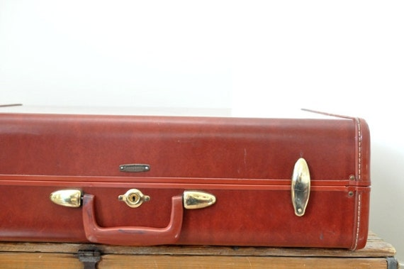 Vintage Samsonite Suitcase Colorado Brown Large