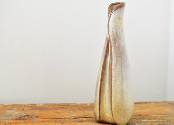 Vintage Frankoma Pottery Bud Vase Desert Gold