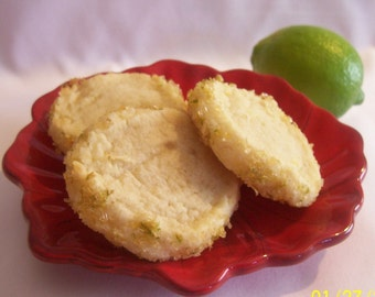 Lemon Lime Butter Cookies  2 Dozen