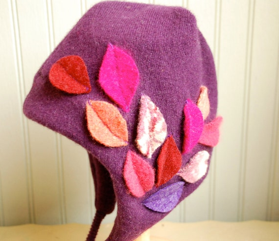 Reserved for Candy//1-3 year size Fall Leaves Earflap Hat