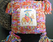 Reserved for Lynn Pillow Weaving Mexican Hand Painted  Milagros Charms