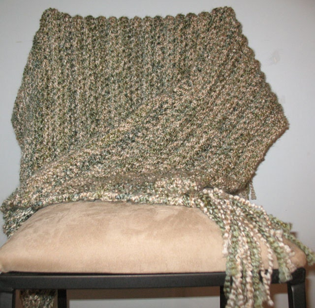 Crochet Afghan Pattern Homespun Yarn : Crochet Homespun Afghan Made to Order by HandcraftedByDebbie