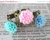 CLOSING SALE - Pastel Garden Flowers - Adjustable Cute Chrysanthemum Ring by berrysweettreats on Etsy